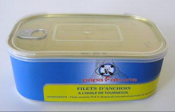 Filets d'anchois allongés à l'huile
